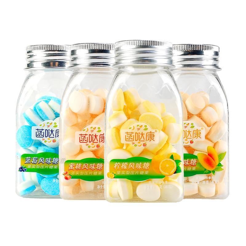 蓝莓风味糖坚实型压片糖OEM